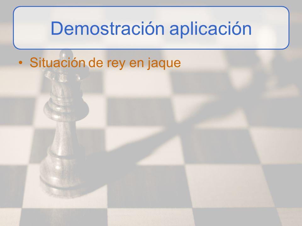 Demostración aplicación Situación de rey en jaque