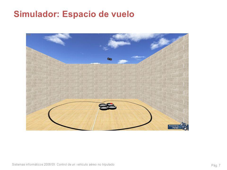 Sistemas informáticos 2008/09: Control de un vehículo aéreo no tripulado Pág. 7 Simulador: Espacio de vuelo