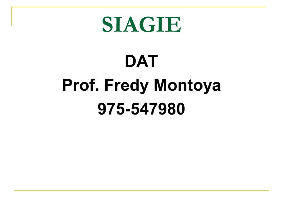 SIAGIE DAT Prof. Fredy Montoya 975-547980