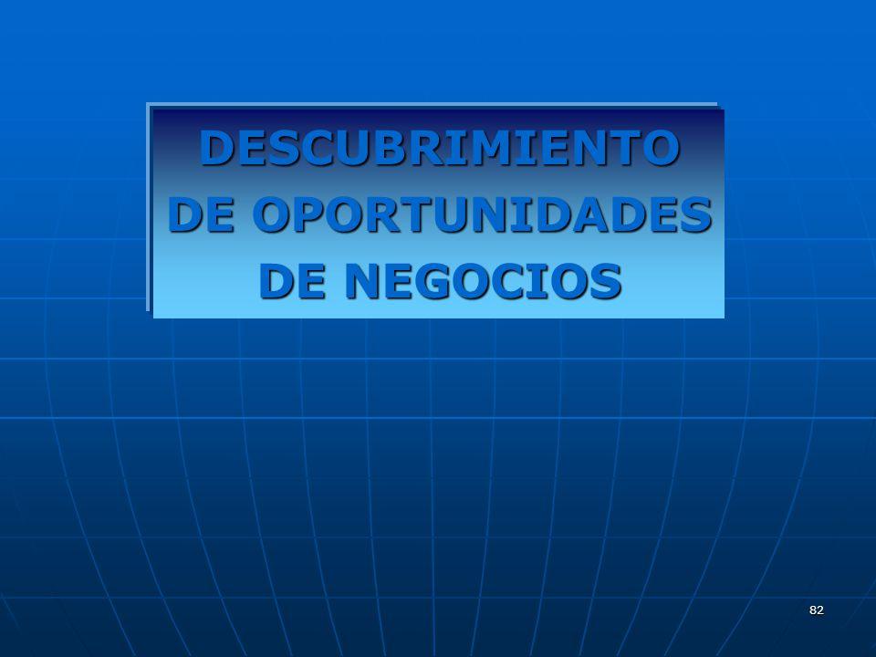 82 DESCUBRIMIENTO DE OPORTUNIDADES DE NEGOCIOS