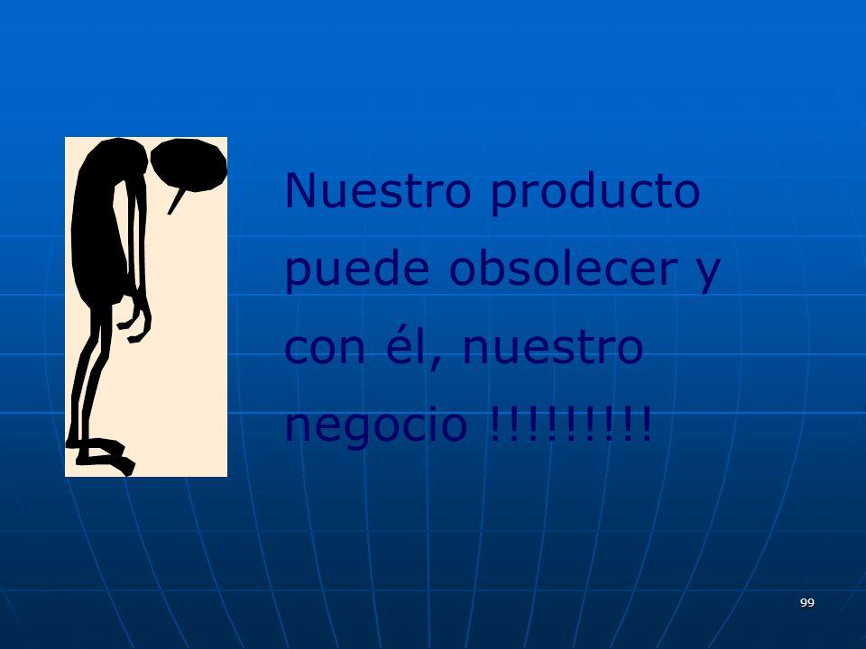 99 Nuestro producto puede obsolecer y con él, nuestro negocio !!!!!!!!!