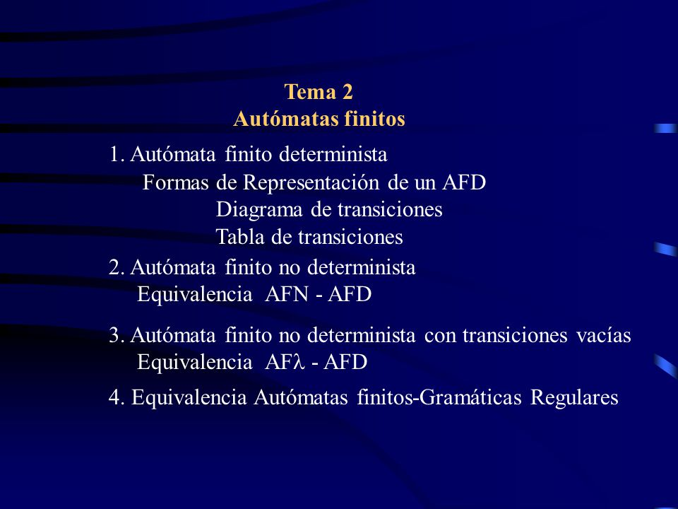 Equivalencia Autómatas finitos-Gramáticas Regulares Si L es aceptado por un A.
