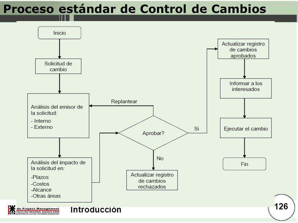 Introducción Proceso estándar de Control de Cambios 126