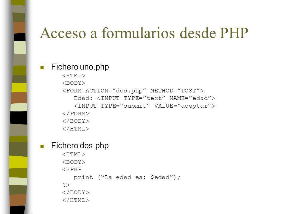 Acceso a formularios desde PHP