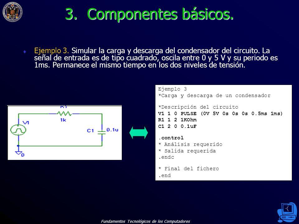 Fundamentos Tecnológicos de los Computadores 19 Ejemplo 3.
