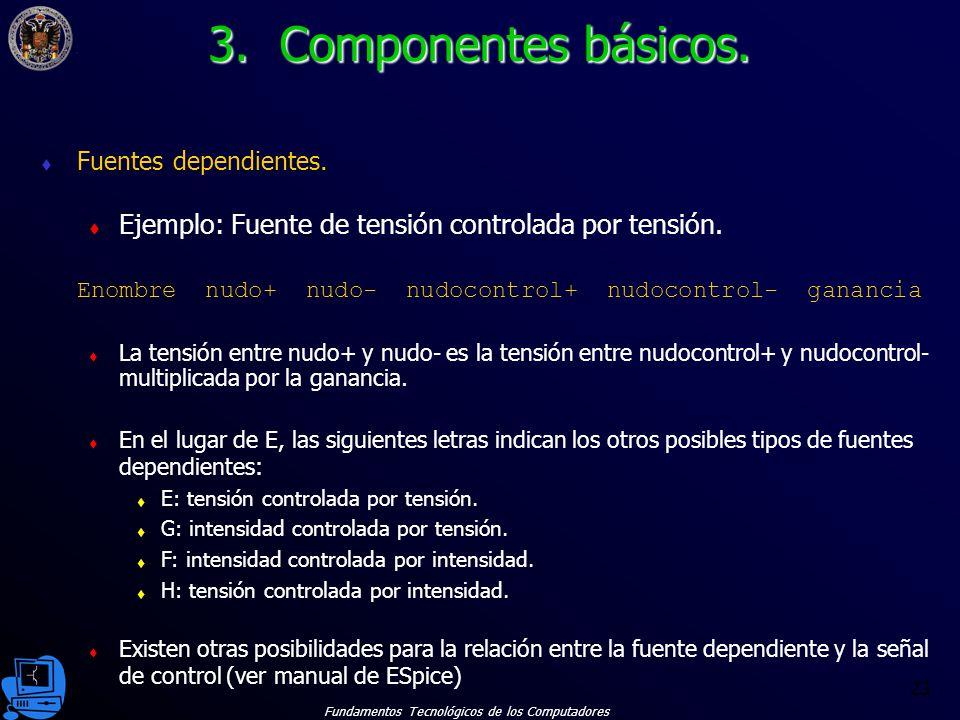 Fundamentos Tecnológicos de los Computadores 23 Fuentes dependientes.