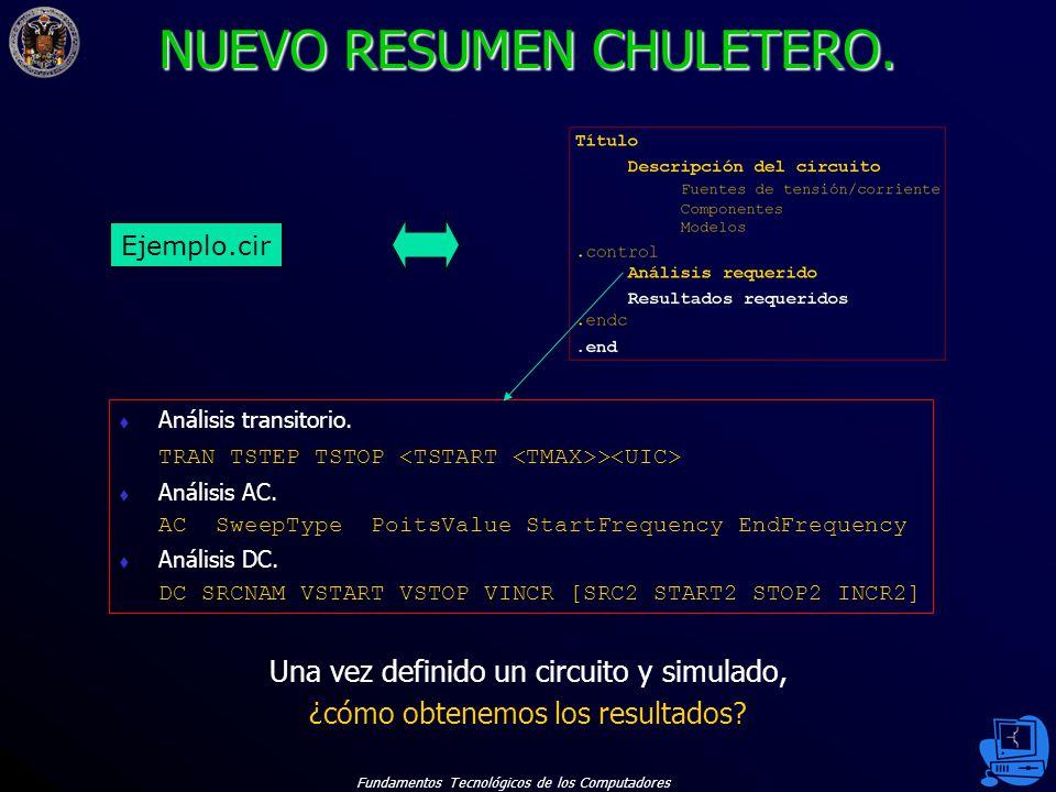 Fundamentos Tecnológicos de los Computadores 34 NUEVO RESUMEN CHULETERO.