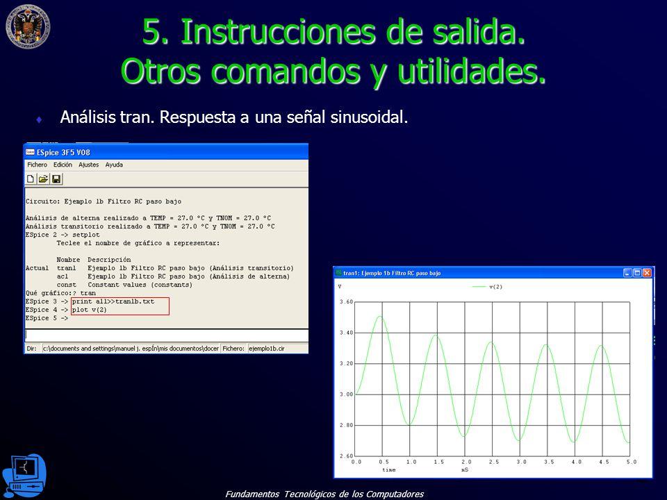 Fundamentos Tecnológicos de los Computadores 48 Análisis tran.