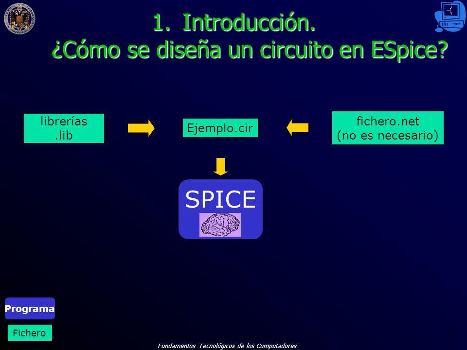 Fundamentos Tecnológicos de los Computadores 58 EJERCICIOS. Ejercicio 1. Barrido DC.