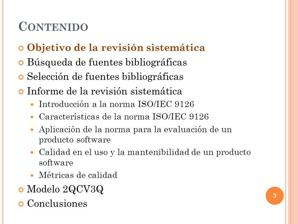Pasos para llevar a cabo la evaluación según la norma ISO/IEC 9126: 1.