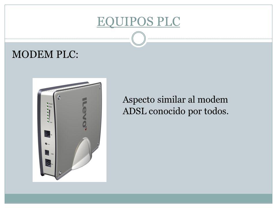 EQUIPOS PLC MODEM PLC: Aspecto similar al modem ADSL conocido por todos.