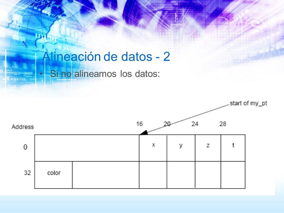 Alineación de datos - 2 Si no alineamos los datos: