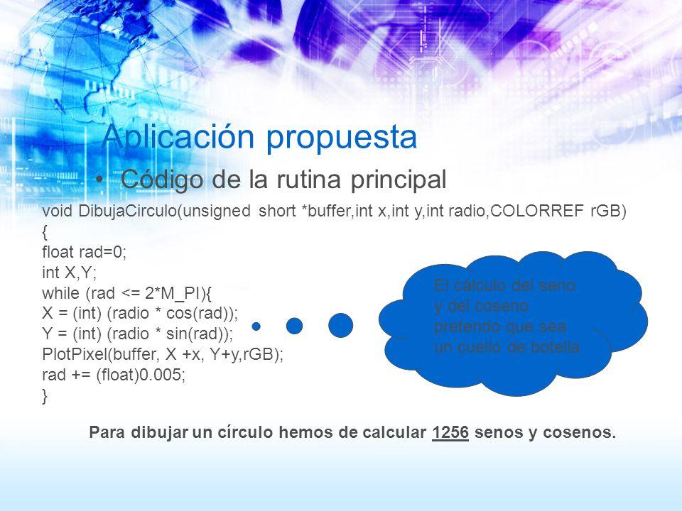 void DibujaCirculo(unsigned short *buffer,int x,int y,int radio,COLORREF rGB) { float rad=0; int X,Y; while (rad <= 2*M_PI){ X = (int) (radio * cos(ra