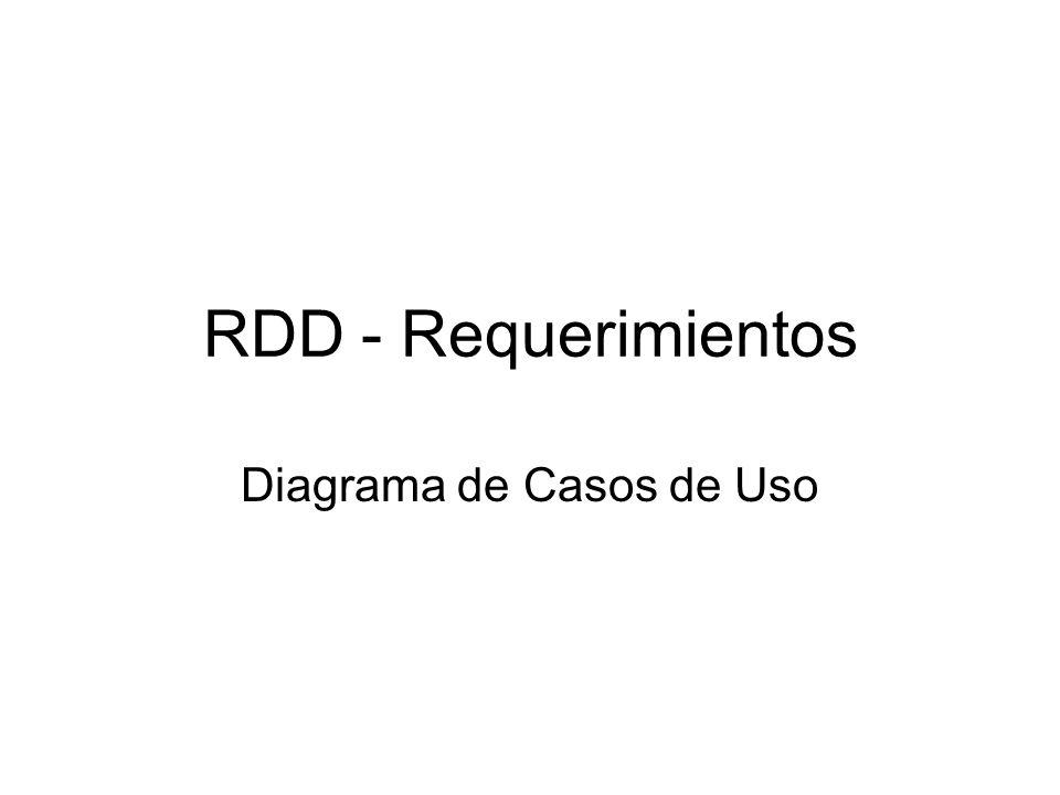RDD - Requerimientos Diagrama de Casos de Uso
