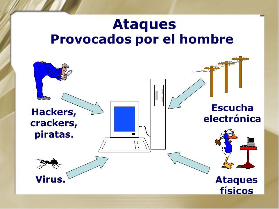 Ataques Provocados por la naturaleza Lluvias, inundaciones, terremotos, rayos, etc.