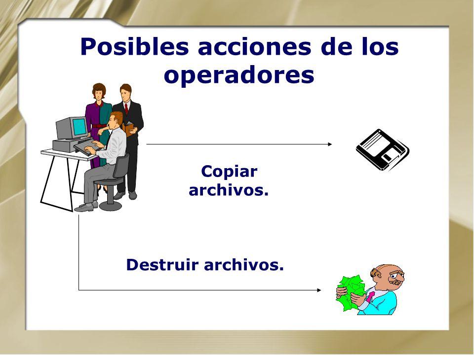 Posibles acciones de los ingenieros Activar defectos. Acceder a los sistemas de seguridad.