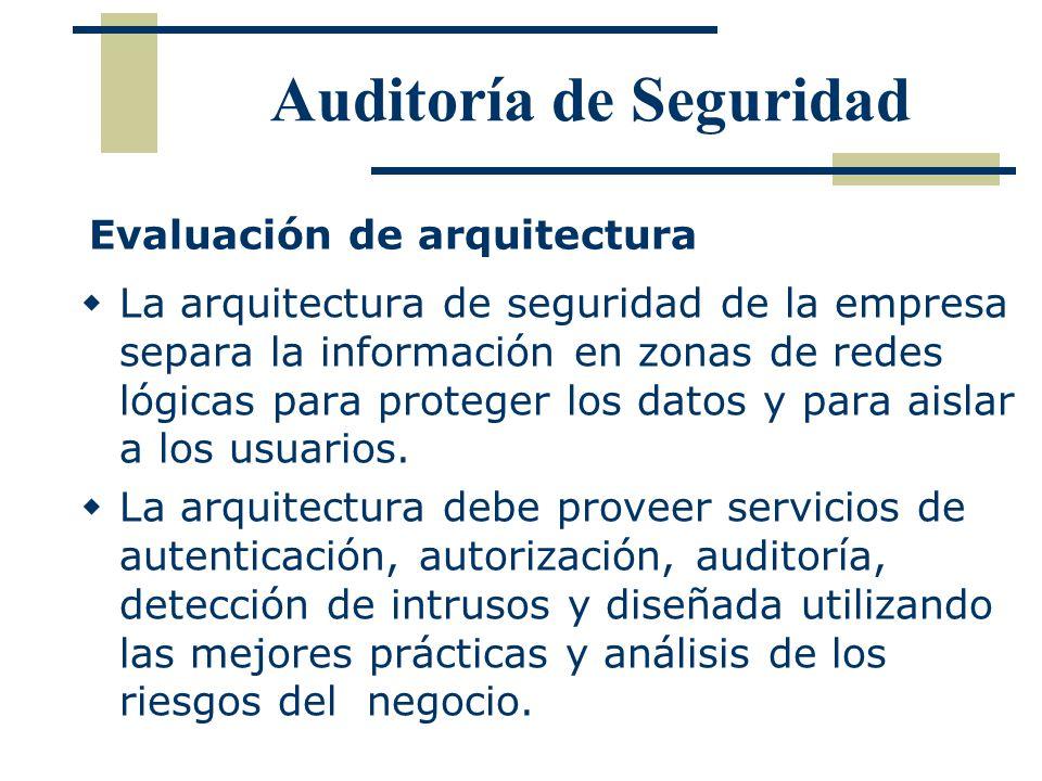 La arquitectura de seguridad de la empresa separa la información en zonas de redes lógicas para proteger los datos y para aislar a los usuarios. La ar