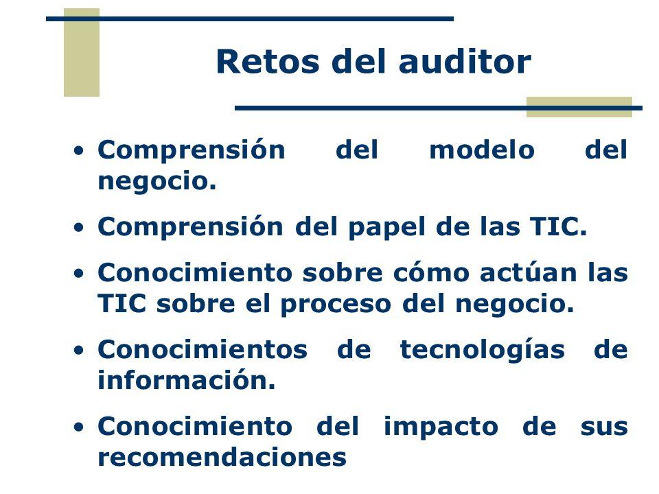Roles y funciones del Auditor TI Evaluar el significado de control dentro de un sistema y ajustar las pruebas necesarias.