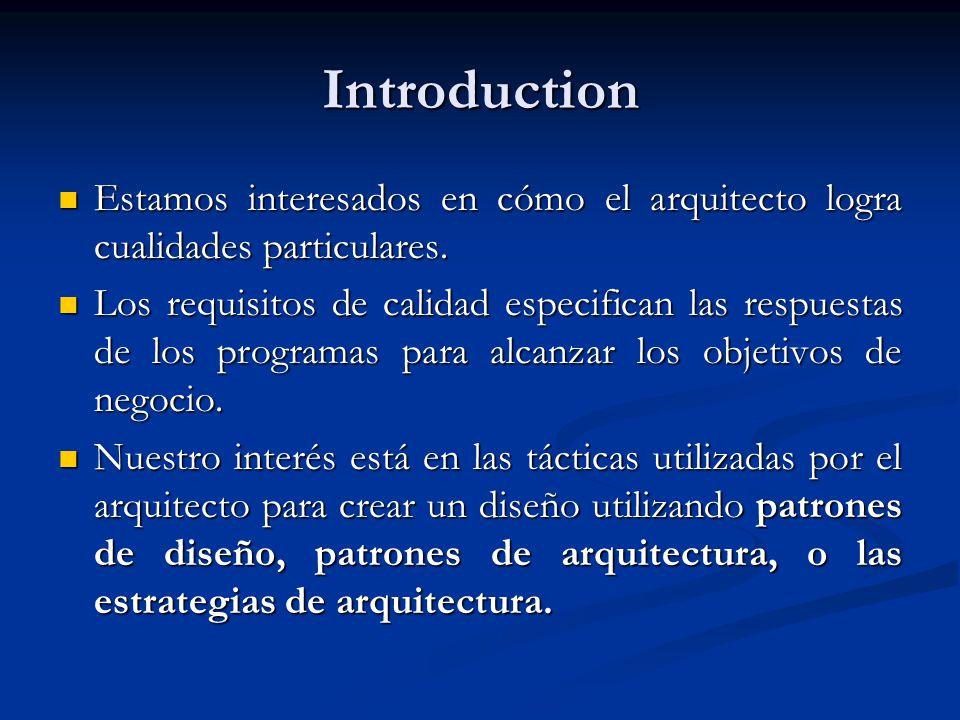 Introduction Estamos interesados en cómo el arquitecto logra cualidades particulares.