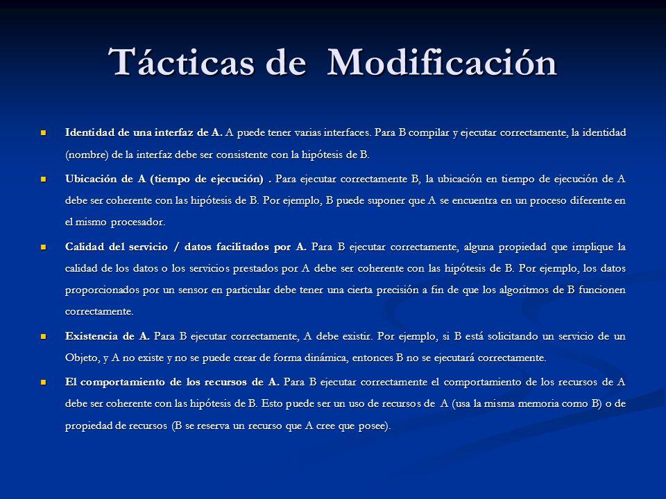 Tácticas de Modificación Identidad de una interfaz de A.