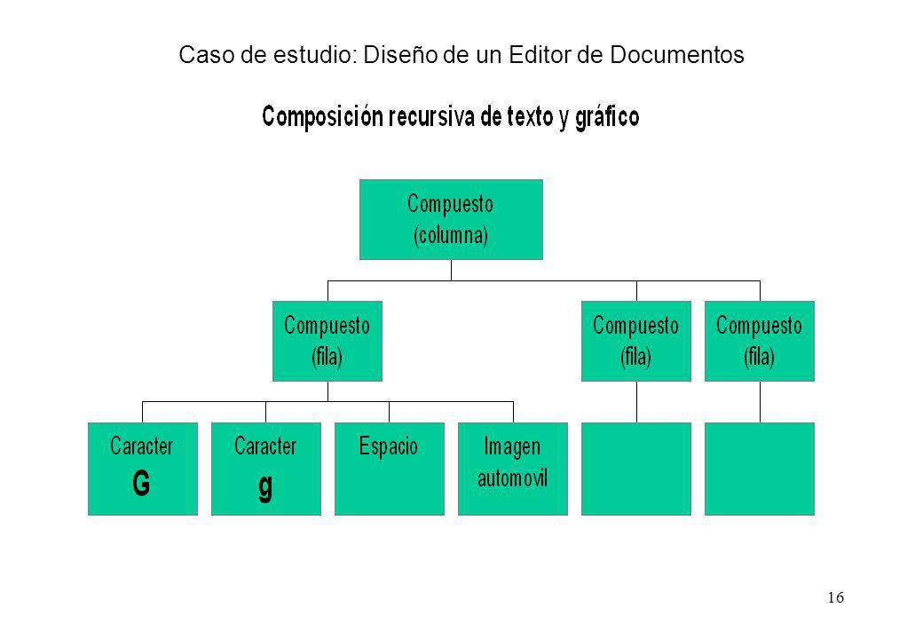 16 Caso de estudio: Diseño de un Editor de Documentos