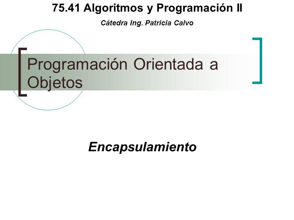 75.41 Algoritmos y Programación II Cátedra Ing.