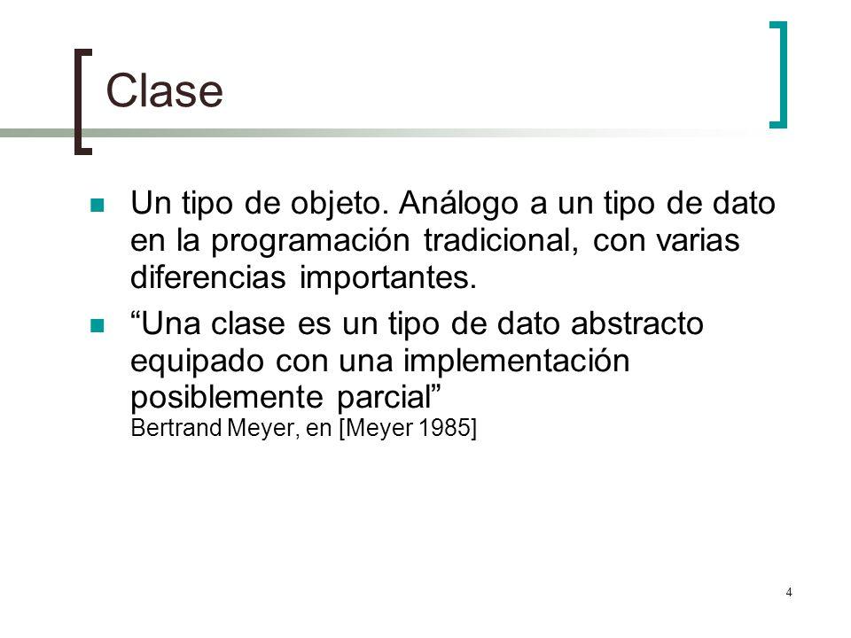 4 Clase Un tipo de objeto.