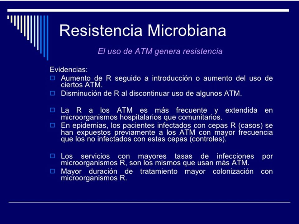 La antibióticoterapia está destinada al tratamiento de pacientes con los signos y síntomas clínicos de infección bacteriana.