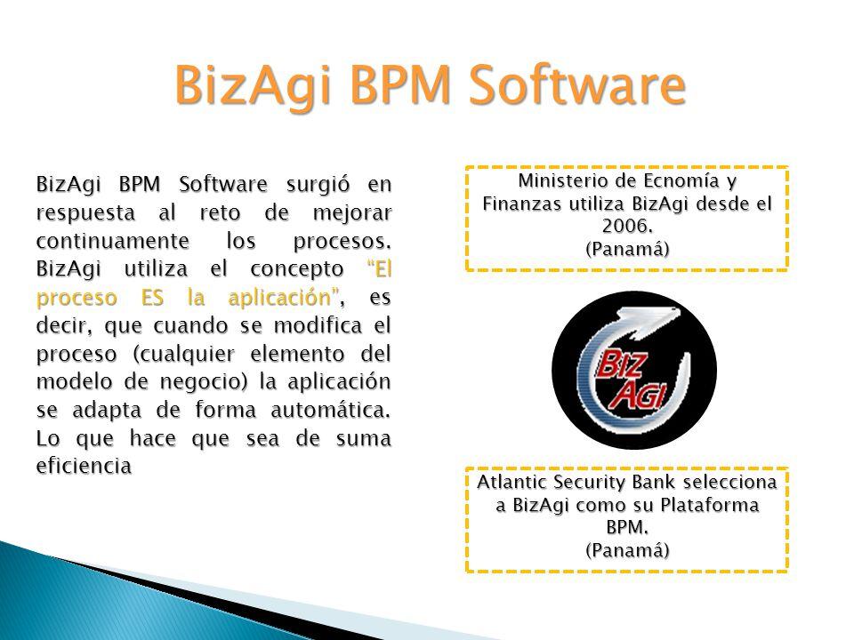 BizAgi BPM Software BizAgi BPM Software surgió en respuesta al reto de mejorar continuamente los procesos.