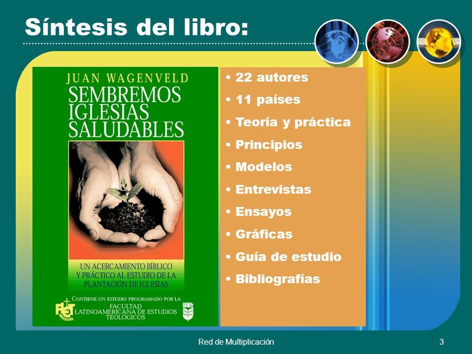 Red de Multiplicación3 Síntesis del libro: 22 autores 11 países Teoría y práctica Principios Modelos Entrevistas Ensayos Gráficas Guía de estudio Bibl