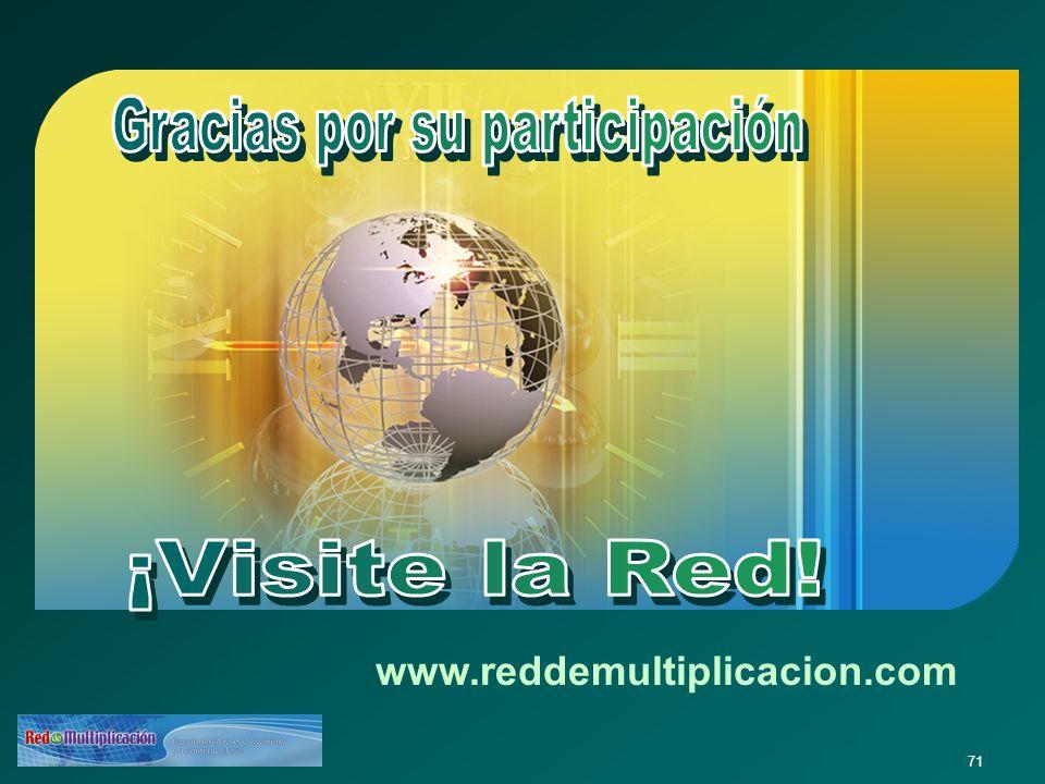 71 www.reddemultiplicacion.com