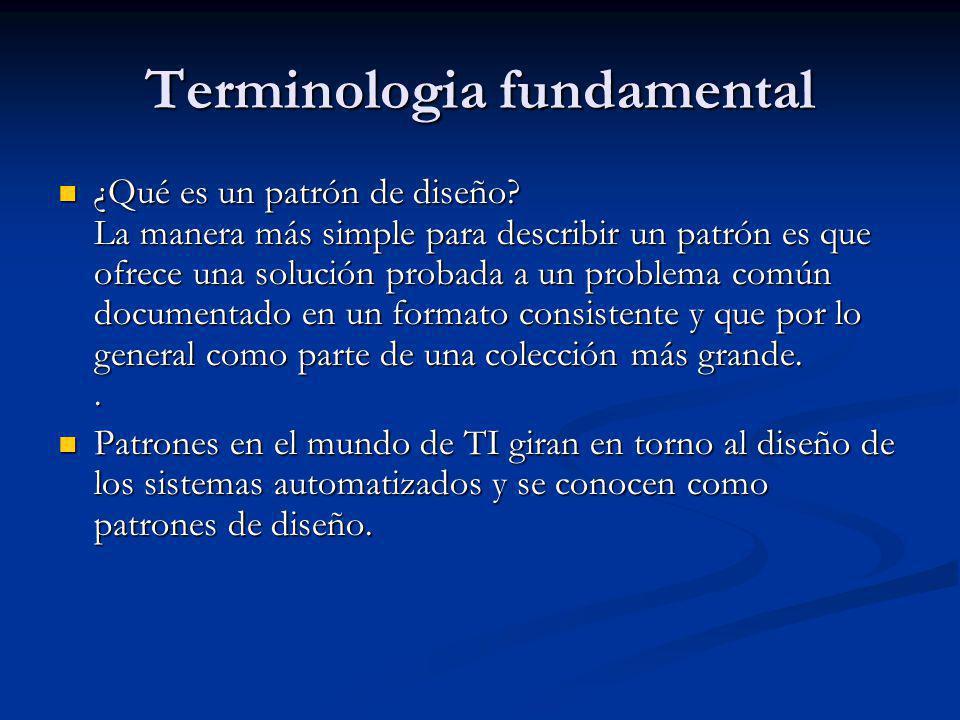 Terminologia fundamental ¿Qué es un patrón de diseño.