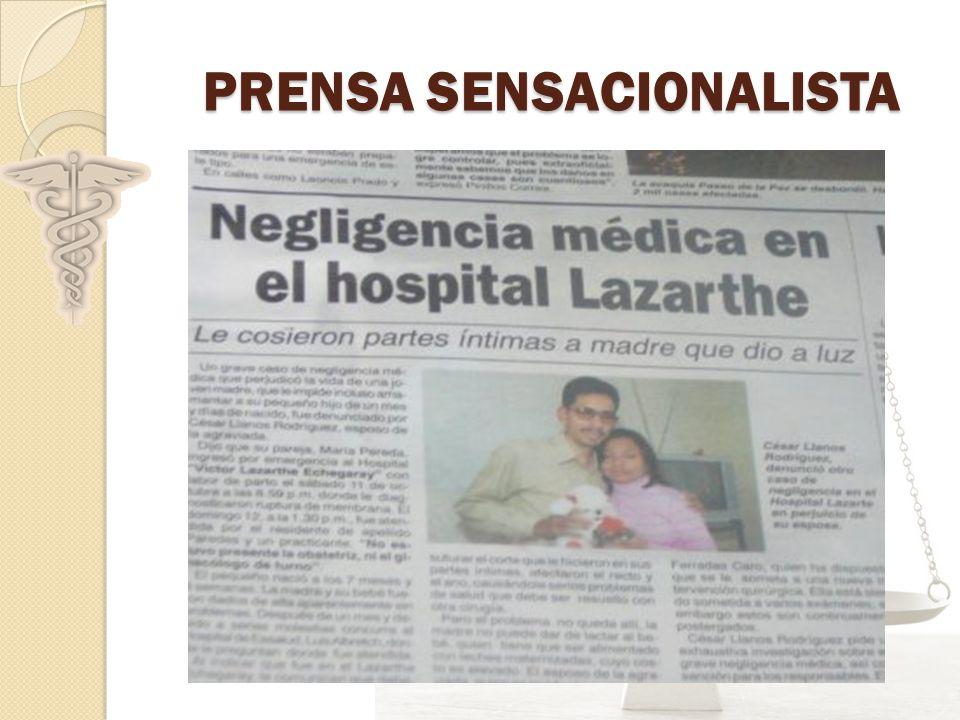 PRENSA SENSACIONALISTA PRENSA SENSACIONALISTA