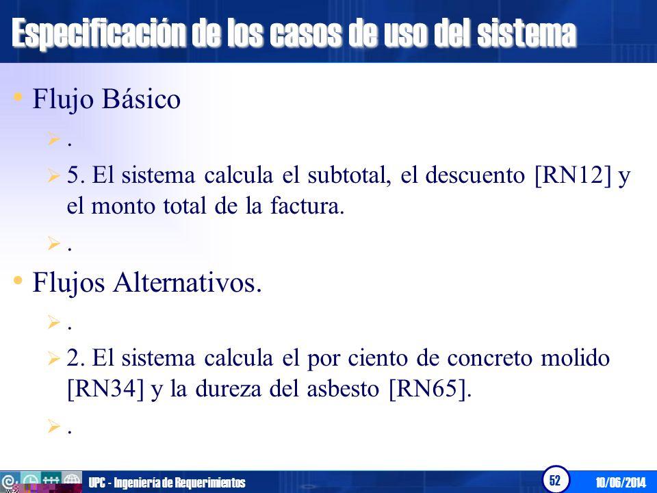 10/06/2014UPC - Ingeniería de Requerimientos 53 Modelado del Negocio.