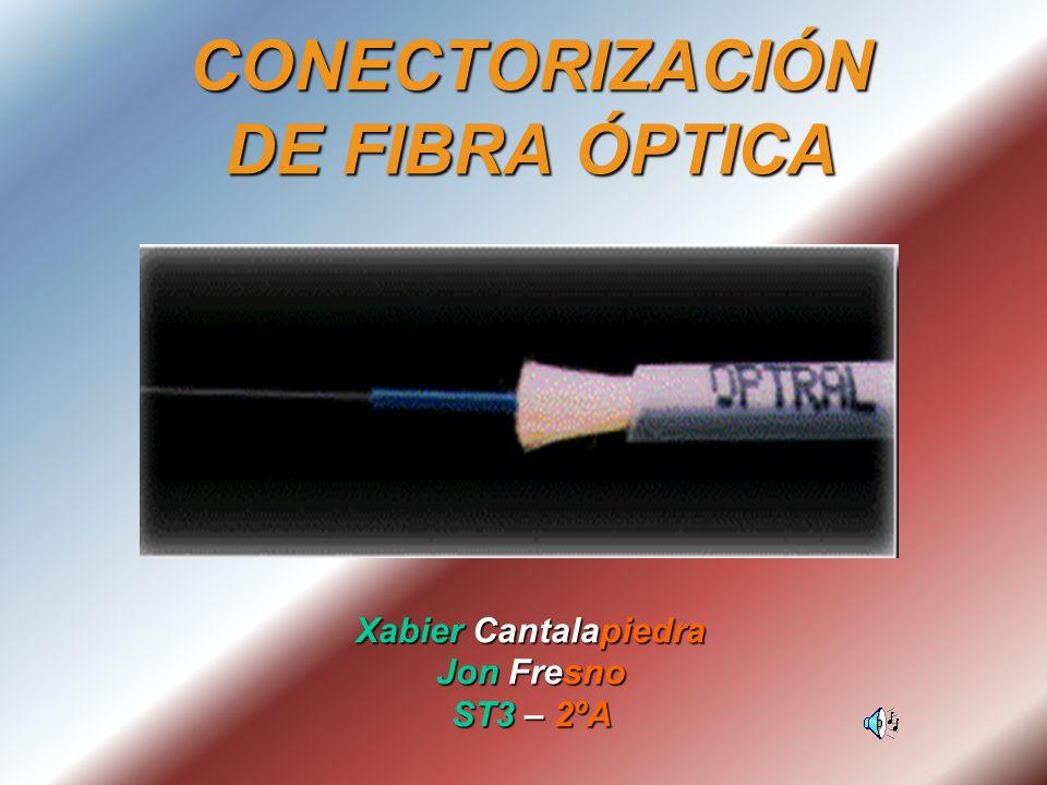 CONECTORIZACIÓN DE FIBRA ÓPTICA Xabier Cantalapiedra Jon Fresno ST3 – 2ºA