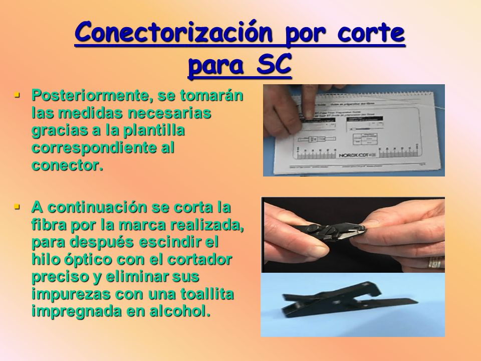 Posteriormente, se tomarán las medidas necesarias gracias a la plantilla correspondiente al conector.