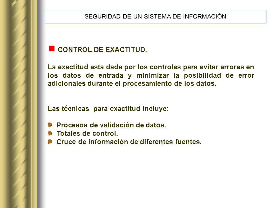 CONTROL DE EXACTITUD.