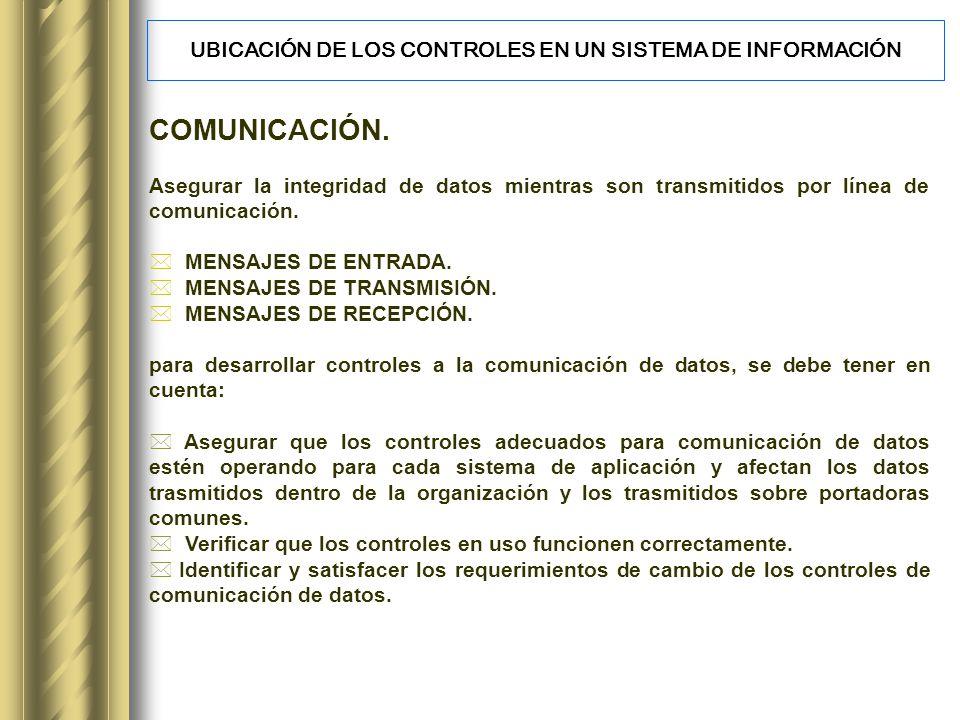 COMUNICACIÓN.Asegurar la integridad de datos mientras son transmitidos por línea de comunicación.