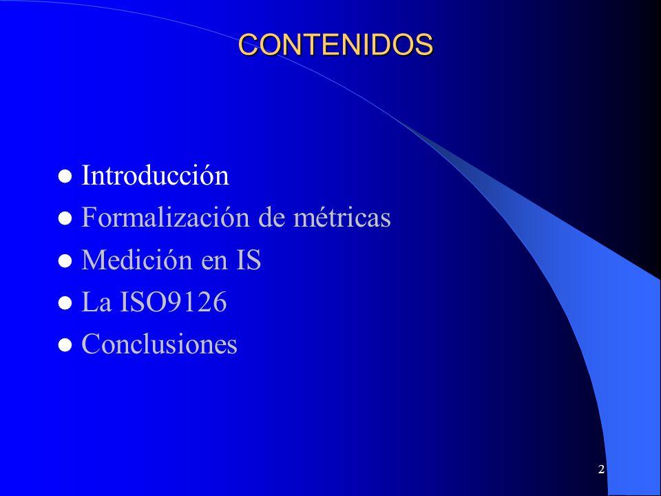 13 Ontología de la medición FORMALIZACIÓN DE MÉTRICAS