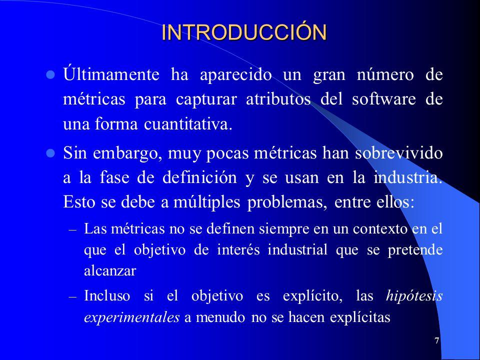 48 Métrica Definición Una forma de medir (método de medición, función de cálculo o modelo de análisis) y una escala, definidas para realizar mediciones de uno o varios atributos.