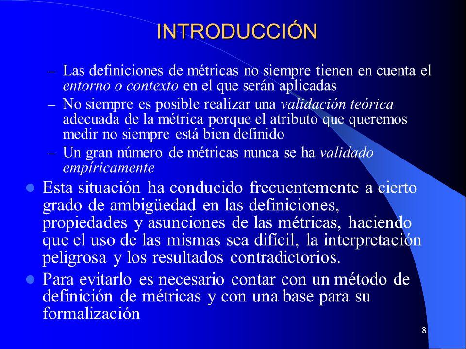 39 Modelo de análisis Definición La forma de medir un indicador.