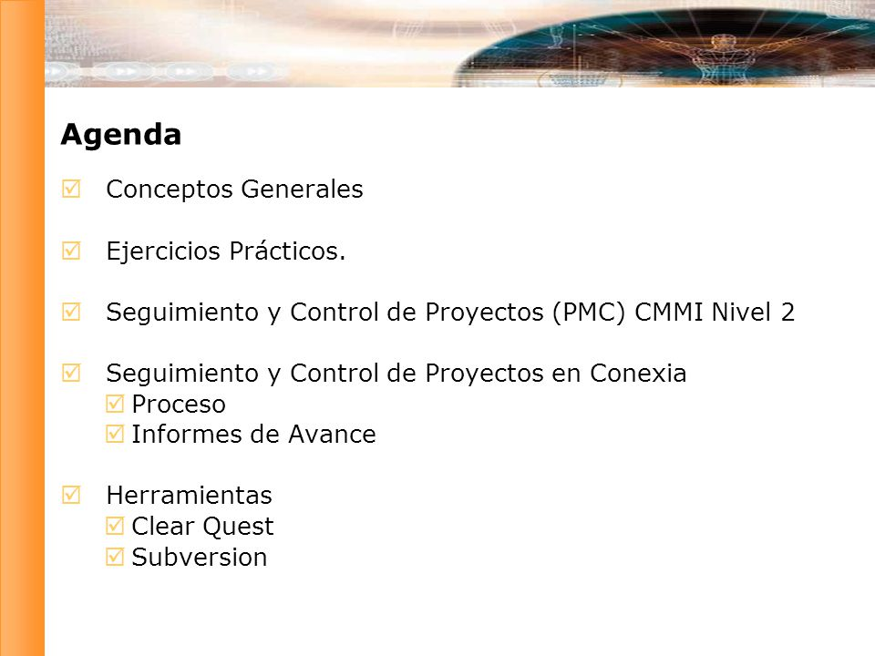 Seguimiento y Control de Proyectos – PMC CMMI Nivel 2 SG 1Actual performance and progress of the project is monitored against the project plan.