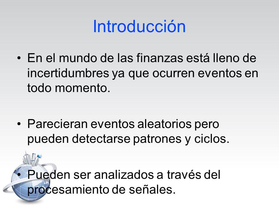 Introducción En el mundo de las finanzas está lleno de incertidumbres ya que ocurren eventos en todo momento.