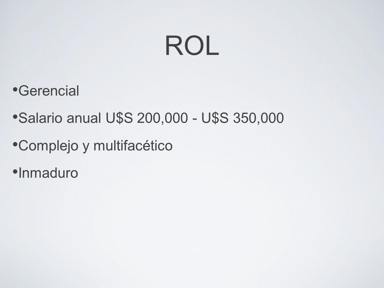 ROL Creador de ambientes sociales Fuertemente relacionado con IT Influencia procesos alrededor de creación y flujo de conocimiento Apoyo de directiva y cooperación de empleados (transversal)