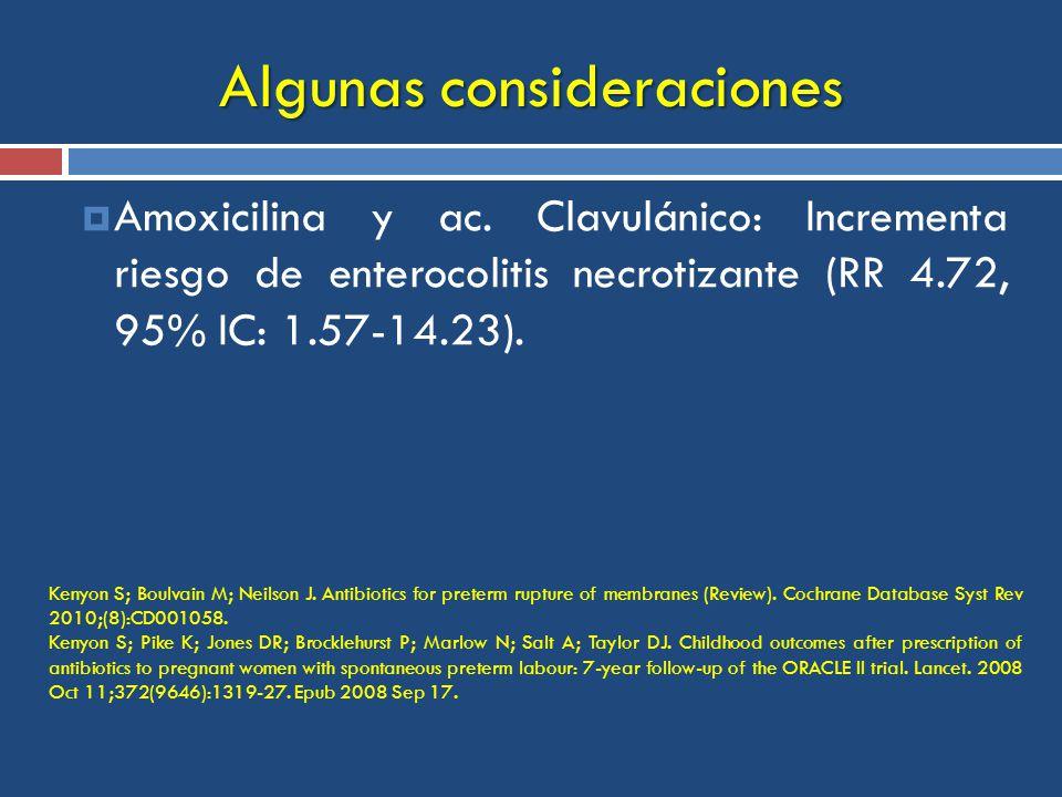 Algunas consideraciones Amoxicilina y ac.