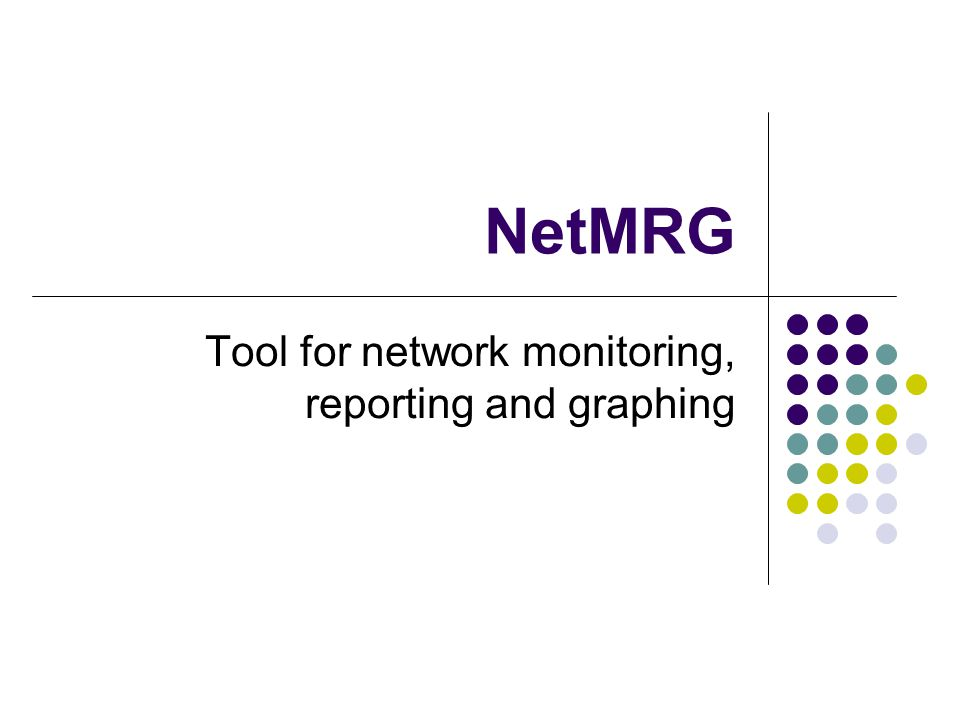 NetMRG Tool for network monitoring, reporting and graphing