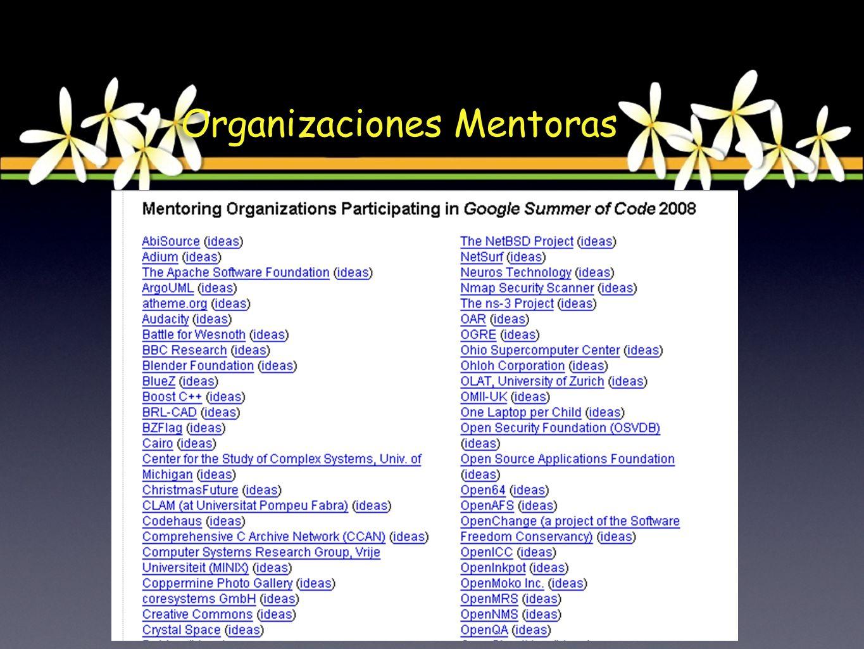 Organizaciones Mentoras