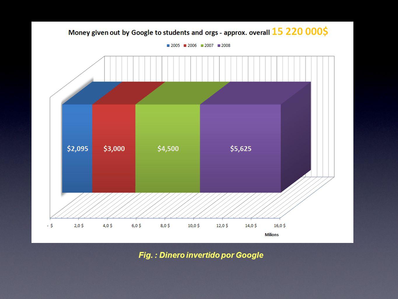 Fig. : Dinero invertido por Google