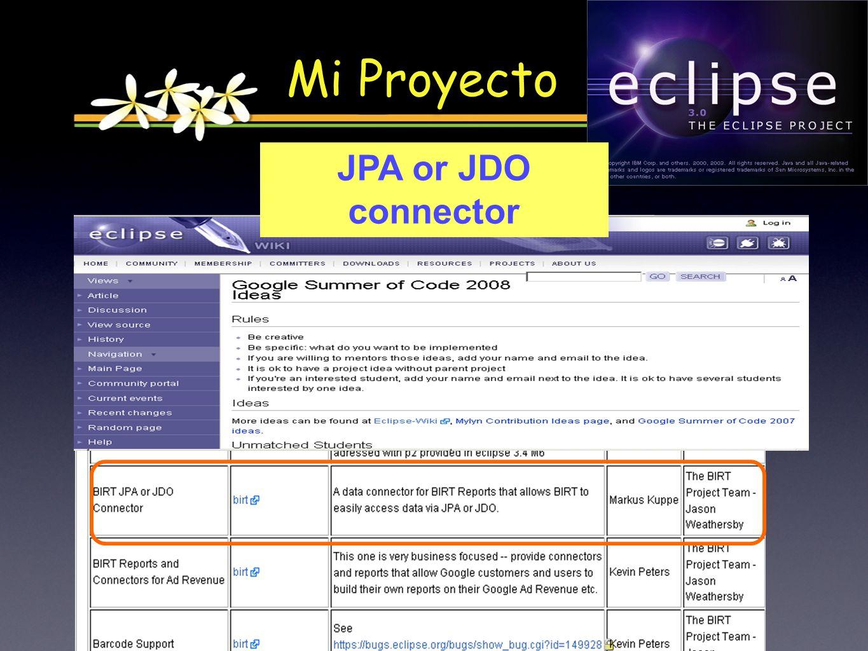 Mi Proyecto JPA or JDO connector