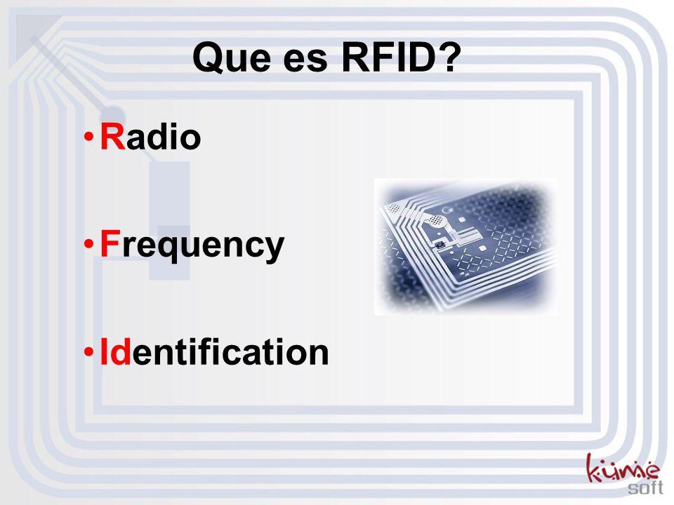 Que es RFID? Radio Frequency Identification